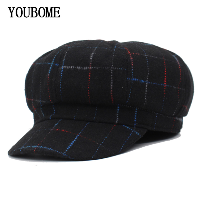 YOUBOME Fashion Newsboy Cap Women Octagonal Hats For Women Beret Gorras Planas Snapback Caps Female Casquette Sun Octagonal Hat