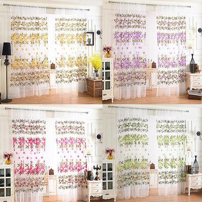 Damask Curtains Pair Of Half Flock Pencil Pleat Window Curtain