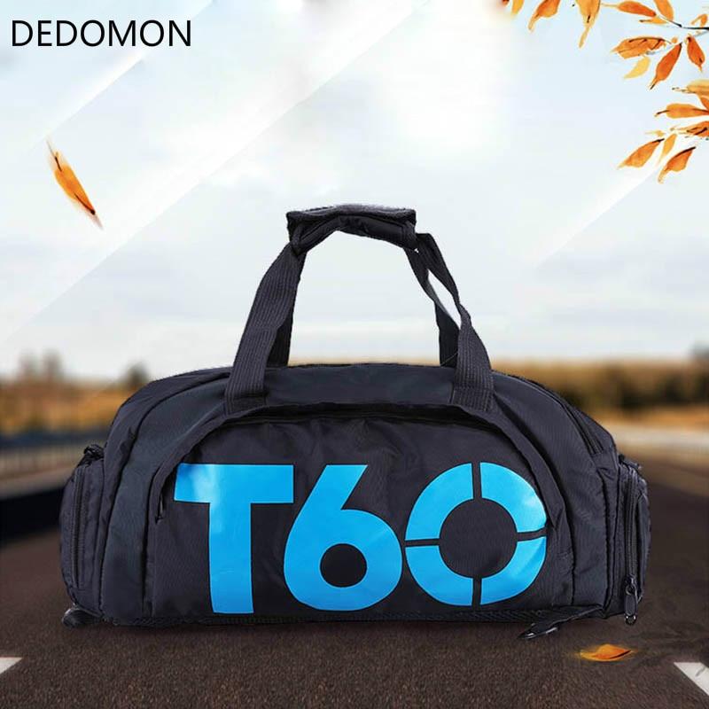 Фирменная Новинка Для мужчин спортивная сумка Для женщин Фитнес Водонепроницаемый открытый отдельное пространство для Обувь мешок рюкзак скрыть рюкзак SAC de T60