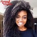 Afro Kinky Вьющиеся 360 Кружева Фронтальной Парики 180% Плотность Фронта Шнурка человеческих Волос Парики Черный Воме 8А PeruvianFull Кружева Человеческих Волос, Парики