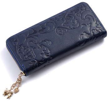 Floral Embossed Leather Women's Wallet Bags and Wallets Best Seller Hot Promotions Women's Wallets Color: B015e