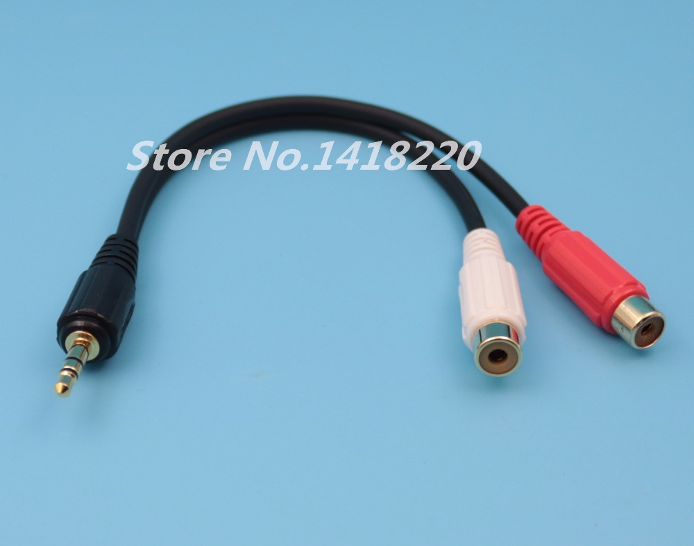 2Pcs New Male 3.5mm to 2 Female RCA 20cm Stereo Adapter Audio 1/2ft Extension Cable High uality vention 3 5mm jack plug male to 2 rca male stereo audio cable 1m 1 5m 2m 3m 5m rca aux cable for edifer home theater dvd vcd