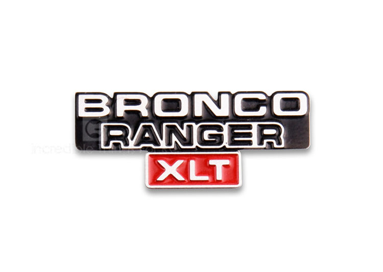 stainless steel stereo <font><b>Logo</b></font> metal badge for 1/10 Ford bronco Ranger RC Crawler <font><b>Car</b></font> Traxxas TRX-4 image