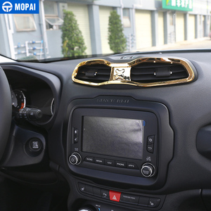 Image 4 - MOPAI panel Interior de ABS para coche, salida de ventilación, decoración, pegatinas de marco para Renegade 2013 2019