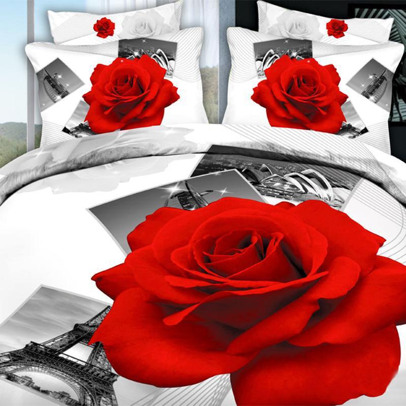 bianco rosa biancheria da letto-acquista a poco prezzo bianco rosa ... - Copripiumino Bianco E Rosa