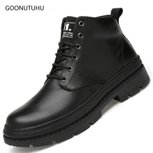 2019 new autumn winter men's boots plus size 39-47 shoe ankle boot man shoes genuine leather cow tactical military boots for men цены онлайн
