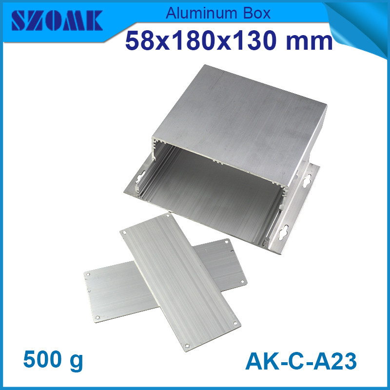 4pcs/lot brushed aluminum extruded profiles wall mounted outdoor junctin box  58*180*130mm 1 piece light grey aluminum extrusion profiles heatsink wall mounted distribution case 24x80x90mm