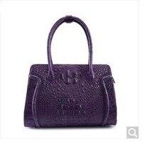 Weitasi крокодиловой кожи Сумочка Мода большой емкости классический большой мешок фиолетовый из крокодиловой кожи сумки Прямая продажа с фабр