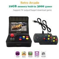 Ретро игровых автоматов игровой консоли 16 ГБ памяти 4,3 Портативный Ручные игры со встроенным 3000 классические игры ТВ аркада