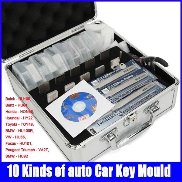 100% d'origine honnête serrurier 10 sortes de clés de voiture moules pour reproduire les clés de verrouillage outils Set
