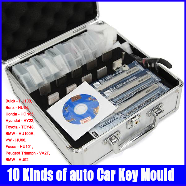 100% original Honest Locksmith 10 Kinds of Car Key Moulds for Key Duplicating Lock Tools Set жидкая помада thebalm meet matt e hughes honest цвет honest variant hex name de635c