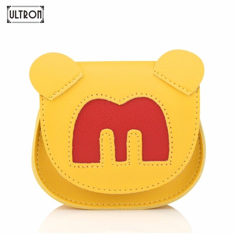 ULTRON New Cute Mini Bag Children Alphabet Handbag For Women Cartoon PU Waterproof Should Kids Girls Fashion Messenger Bags