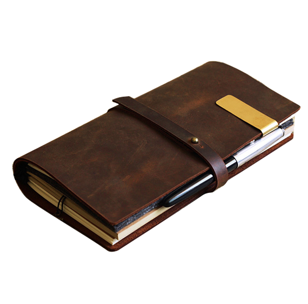 Vintage Diary Notebook Journal Blank Leather Cover Diary genuine leather travel diary A5 size diary