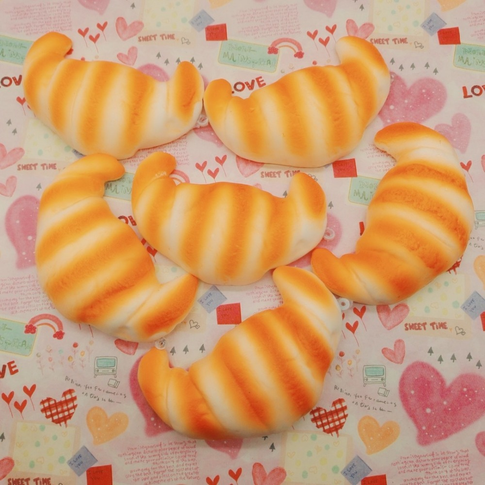 50pcs rare squishy charms bread 11cm Small croissants bread Squishy Cell Phone Straps wholesale FREE SHIPPING