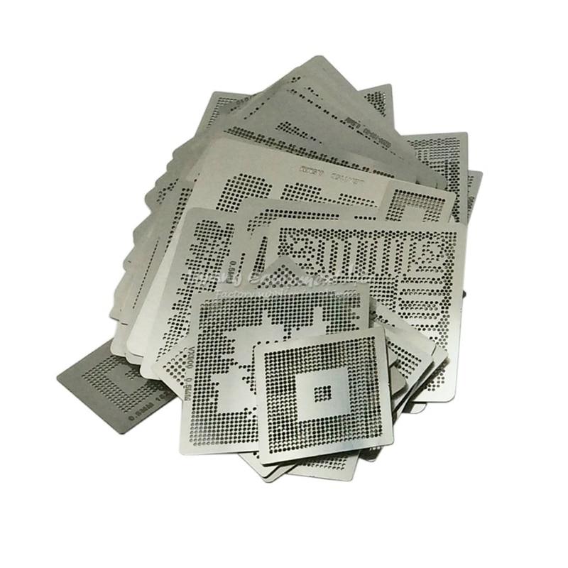 LY Direct heating BGA reballing stencil kit 433pcs/set free gift direct heat jig for bga rework station for laptop 139 pcs set bga reballing stencil template kit
