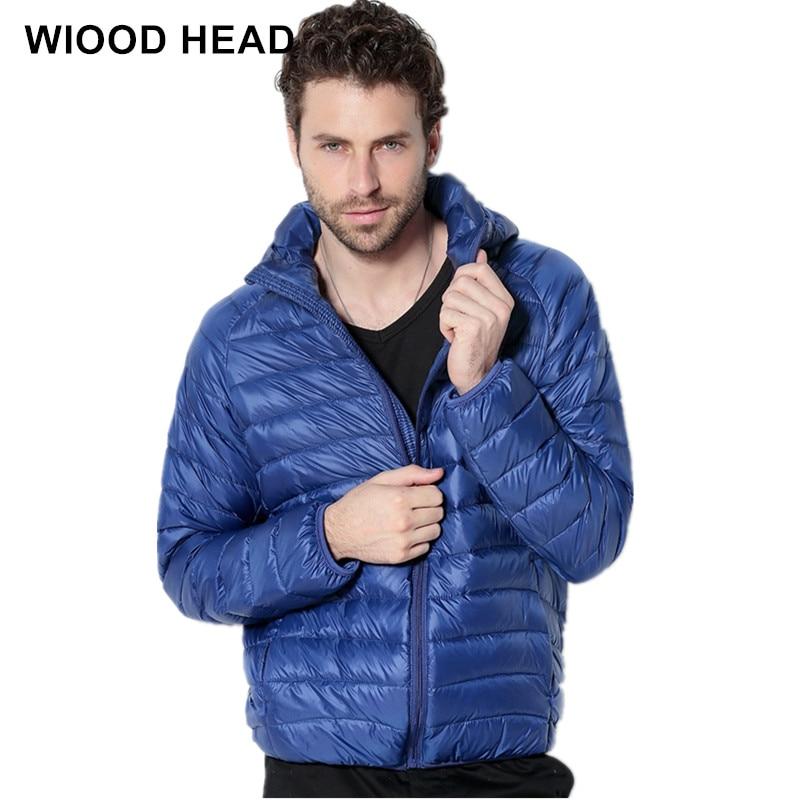Новинка 2017 года бренд белая утка вниз куртка Для мужчин осень-зима теплое пальто Для Мужчин's Сверхлегкий утка вниз куртка мужской ветрозащитный вниз пальто