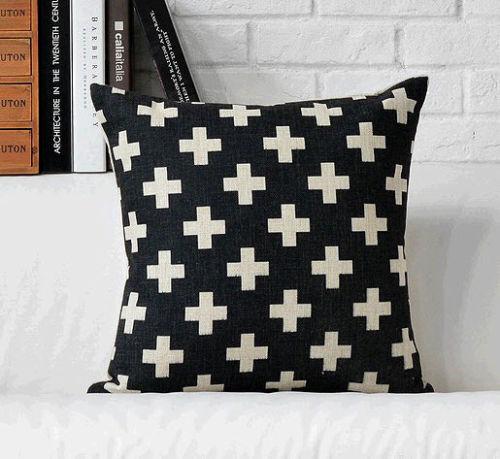 Hot Nordic Crosses Aztec Throw Pillow Case Black Decorative Indie Enchanting Aztec Decorative Pillows