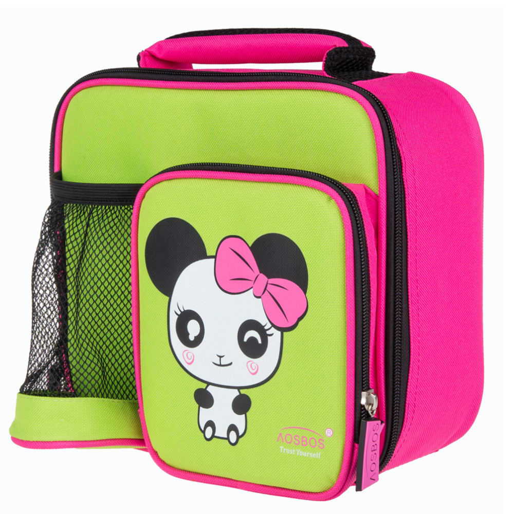 buy thermal kids lunch bag cute cartoon zoo animal canvas insulated lunch bag. Black Bedroom Furniture Sets. Home Design Ideas