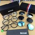 ThomBrowne Removível quadro óculos para homens/mulheres acabamento Requintado óculos de armação unisex miopia óculos com Clip