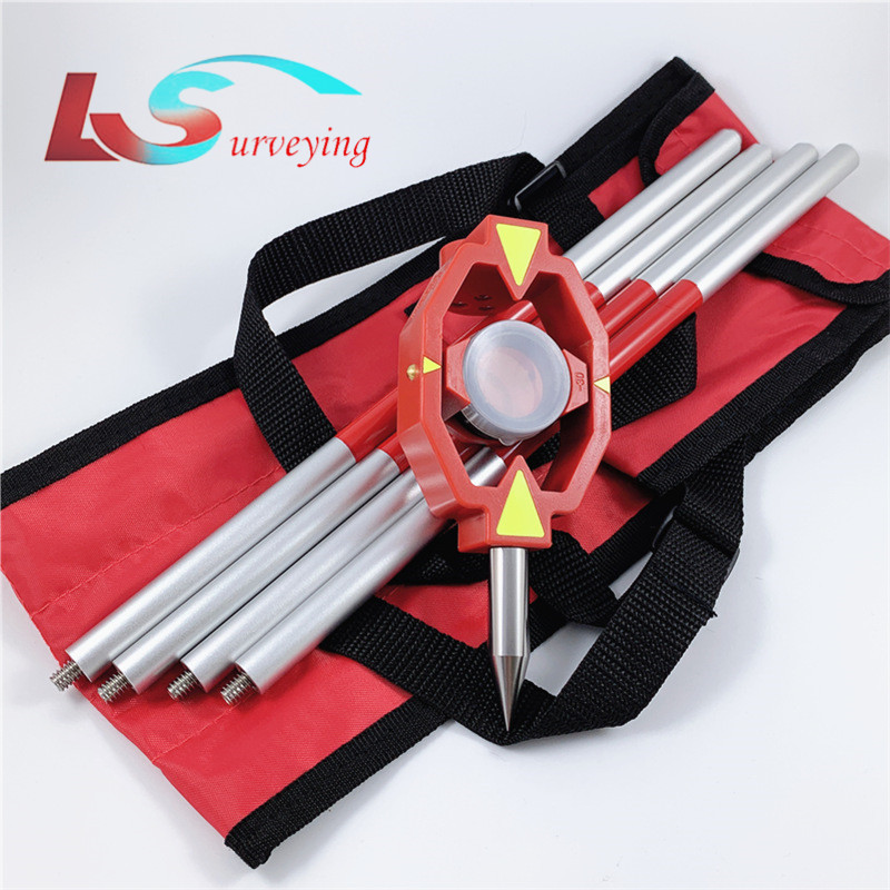 New Mini Prism Constant -30/0mm With 4 Poles Aluminium Alloy Mini prism for Leica Total Station Surveying Instrument