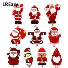 Мультфильм Санта Клаус флеш-диск USB 2,0 4 ГБ 8 ГБ 64 ГБ Рождество серии флешки 16 ГБ 32 ГБ флэш-накопитель в подарок