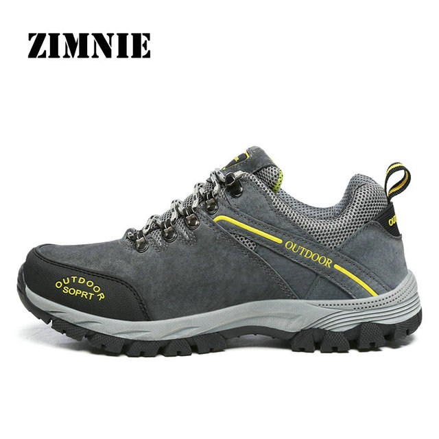 ZIMNIE New Arrival Big Size 39~49 Men's Hiking Shoes Male Outdoor Antiskid Breathable Trekking Hunting Tourism Mountain Sneakers