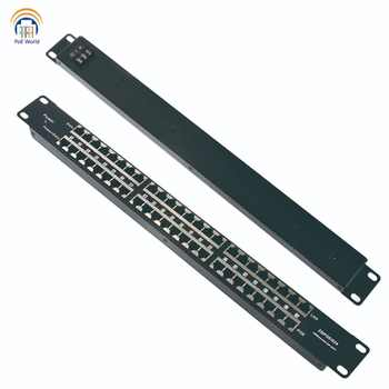 Passive PoE injector 24 Port Mid-span POE Patch Panel, Rack mount PoE Injector powered up to 24 IP Cameras CCTV Security camera