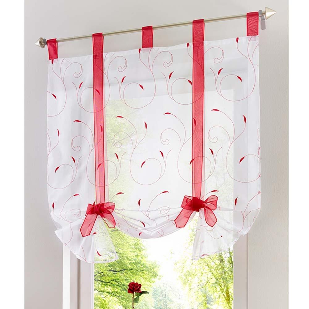 Cortina romana nuevo dise o floral bordado pura voile cortina de ventana de la cocina sal n tul - Diseno de cortinas de cocina ...