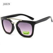 JAXIN Retro Square Sunglasses Kids Fashion Joker Sun Glasses Girl Trend New Color Border Goggles UV400Baby outdoor travel mirror
