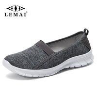 LEMAI 2018 Summer Women Sneakers Shoes Women Breathable Mesh Shoes Ballet Flats Ladies Slip On Flats Loafers Shoes Plus Size 46