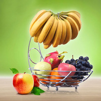Superior Metal Fruit Basket Banana Rack Fruit Rack Storage Basket Table Kitchen Dinning Decoration Storage FG