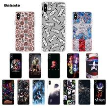 Babaite Marvel Superman Venom Shield Spiderman TPU Soft Silicone Phone Case Cover for iPhone 7 7plus 5 5Sx 6 8 8Plus X XS MAX XR