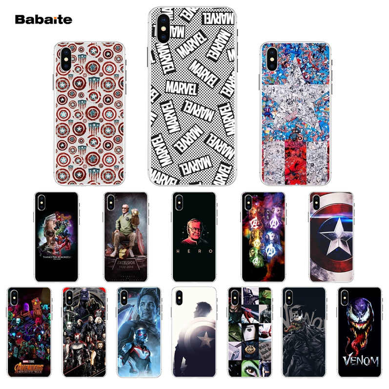 Babaite Marvel Superman Venom Shield Spiderman Tpu Soft Silicone