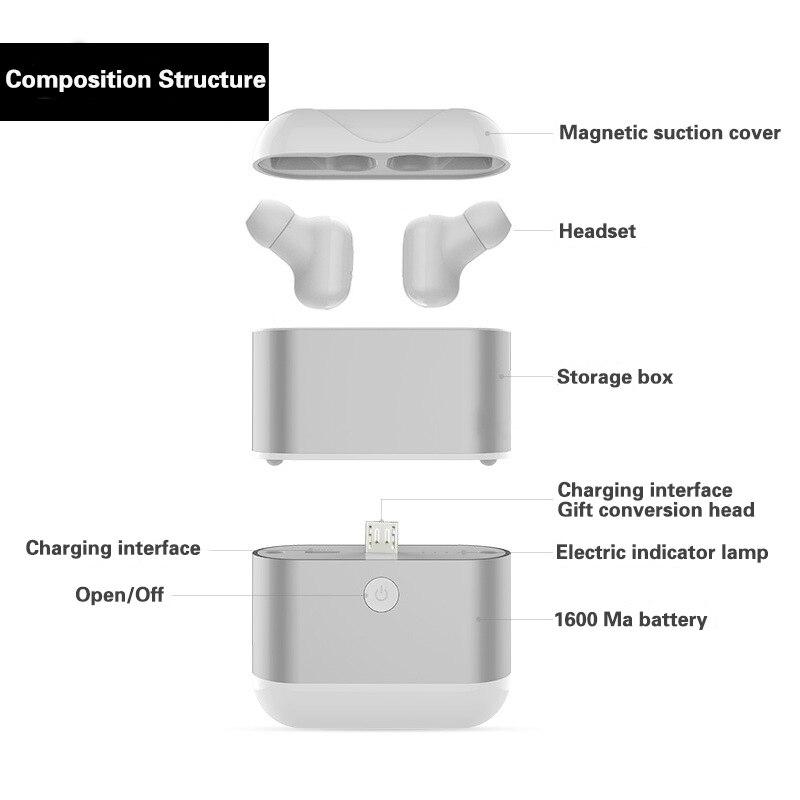 Kapcice X2 TWS double oreille sans fil Bluetooth casque Mini oreillette mouvement super petit écouteur-in Écouteurs et casques from Electronique    2