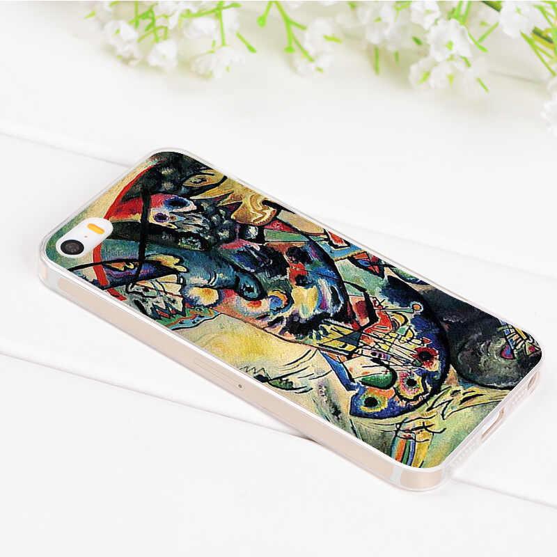 MaiYaCa Wassily Kandinsky Abstrakte Künstlerische transparent weiche tpu telefon fall abdeckung für iPhone 8 7 6 6S Plus X 5S SE 5C fall Abdeckung