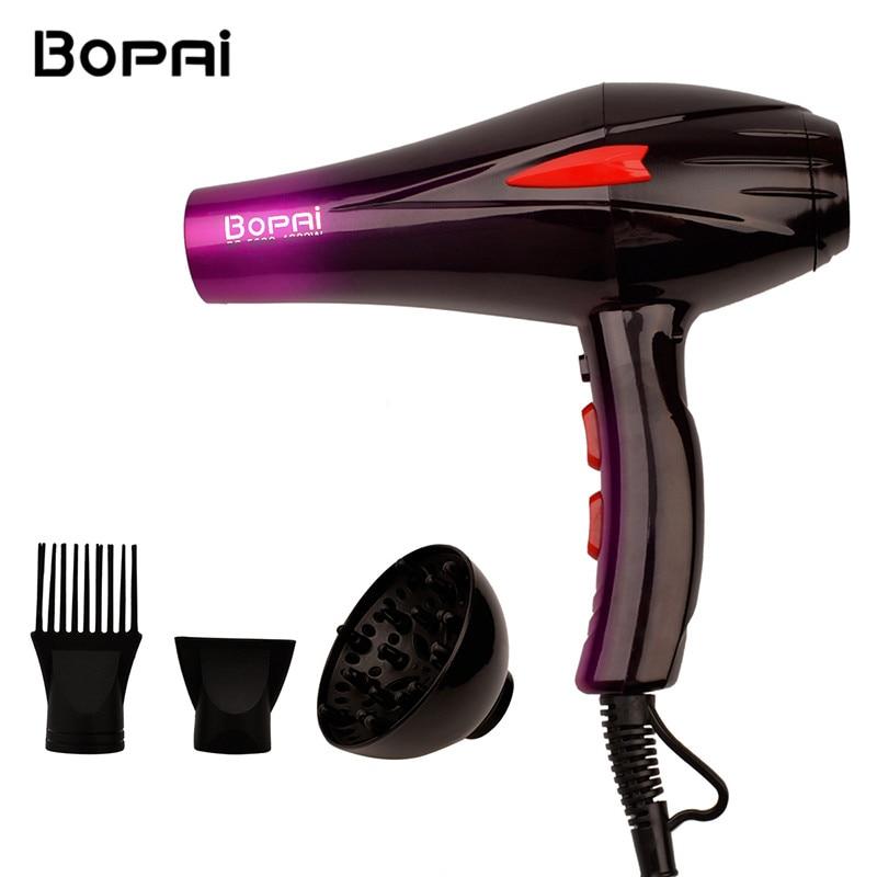 Profesional 4000 W Super potencia secador de pelo peinado rápido secador caliente y fría ajuste con dos boquillas para el salón 4647