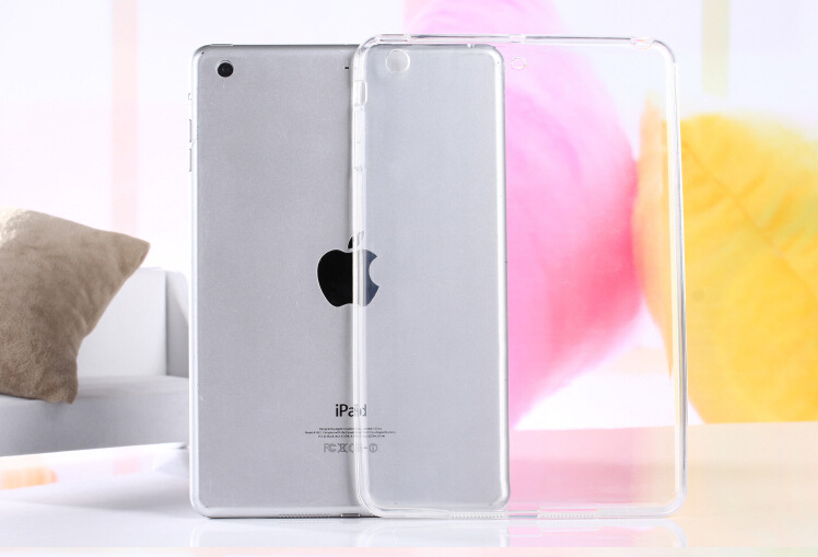Hot Top Quality Crystal Clear Transparent TPU Silicone Rubber Skin Gel Case for Ipad 2/3/4 Jelly Case Cover