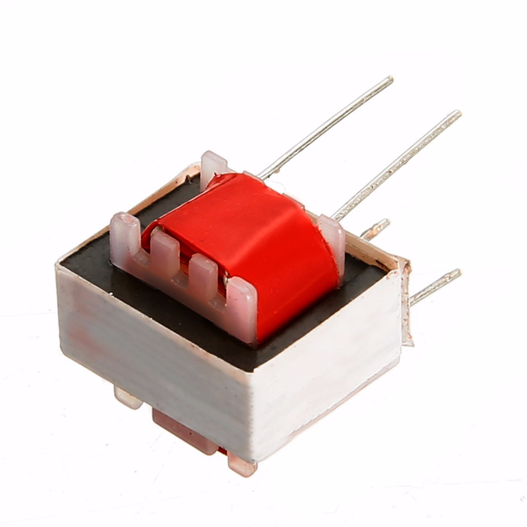 10pcs Red Nickel alloy Audio Transformers 600:600 Ohm Europe 1:1 EI14 Isolation Double-wire winding  High efficiency Transformer