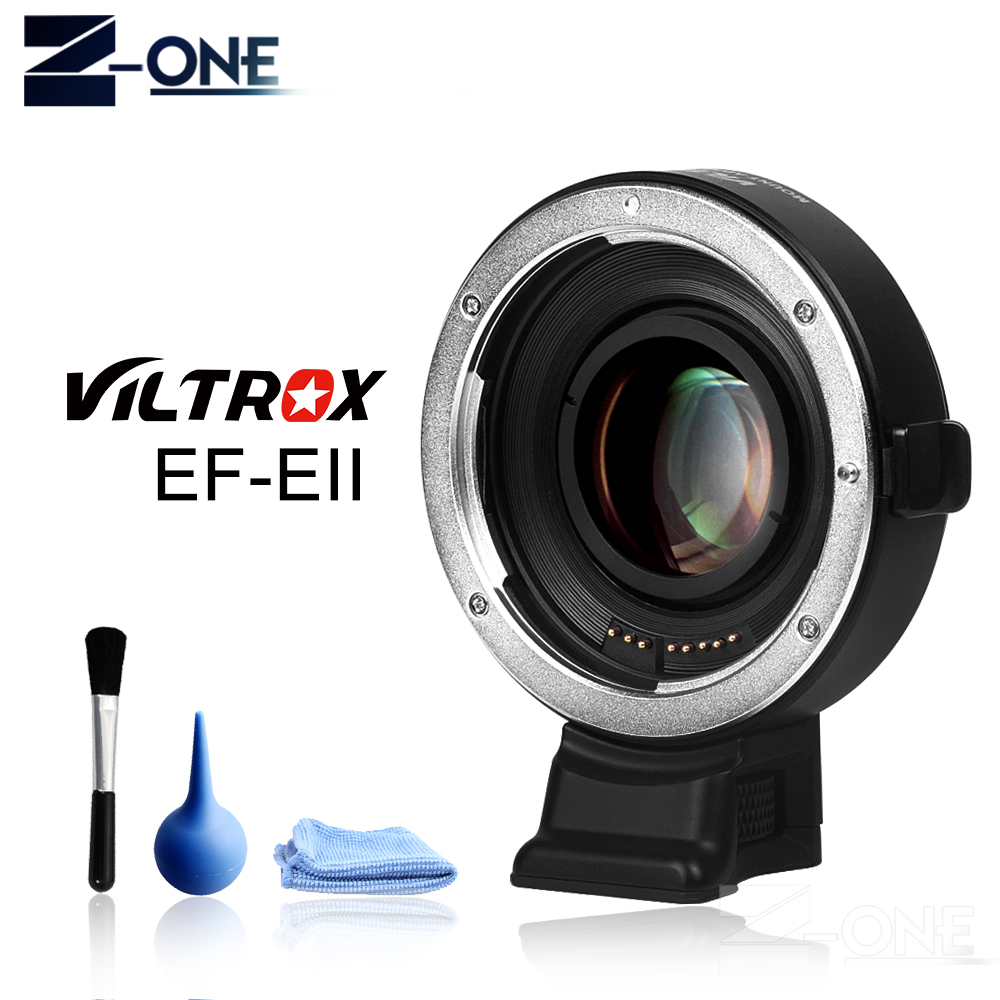 Viltrox EF E II Auto Focus Reducer Speed Booster Lens Adapter for Canon EF Lens to Sony NEX E Camera A9 A7 A7R A7SII A6500 NEX 7