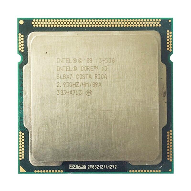 INTEL Core I3 530 CPU LGA1156 Socket /2.93GHz /L3 4MB /dual-Core Processor TDP /73W /have A 1156  X3440 X3450 X3470