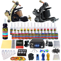 Solong Tattoo Kit 2 Pro Rotary Machine Gun Set 28 Inks Power Supply Needle Grips TK222US