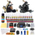 Kit de Tatuaje Solong 2 Pro Rotary Machine Gun Set 28 Tintas de Alimentación Aguja Grips TK222US