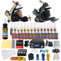 Solong Tattoo Kit 2 Pro Rotary Machine Gun Set 28 Tintas Alimentação Agulha Grips TK222US