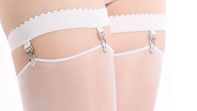Free shpping non-slip sexy silicone garter sock buckle hosiery Metal Clip Elastic Buckle Nylon belt garters for Stockings Socks