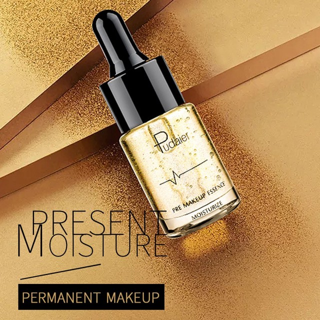24k Gold Face Brighten Make Up Primer Liquid Cosmetics Waterproof
