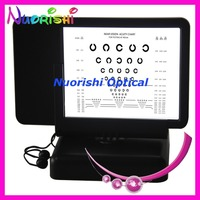 W093 Back With Amsler Grid Near Vision Chart 40cm Double side Led Illuminated C ring Visual Acuity Chart