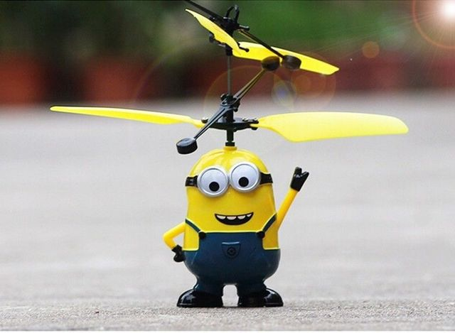 Mini RC Despicable Drone Minions Helicopter Quadcopter Drone Flying Sensory Toy For Kids Gift