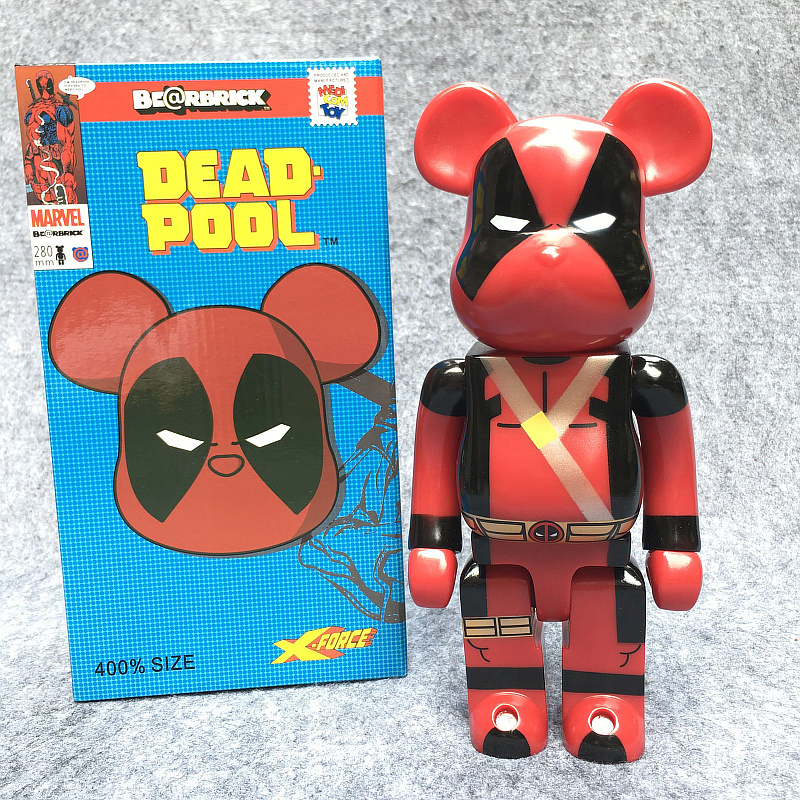 Hot Sale 400% Bearbrick Cosplay Avenger Deadpool Be@rbrick 28cm PVC Action Figure Birthday Gifts