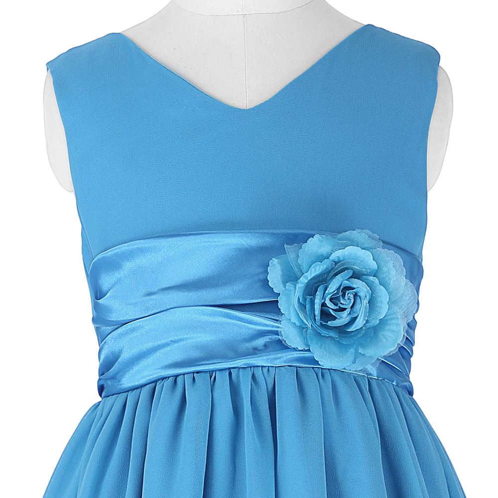 Grace Karin White Flower Girl Dresses Pageant Gown Chiffon Girls ...