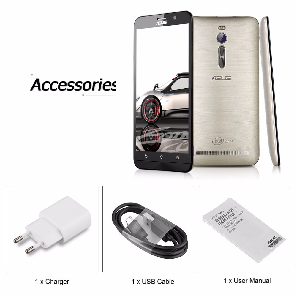 Buy Original Asus Zenfone 2 Ze551ml 55 Intel Atom Usb Cable Wiring Diagram Z3580 23 Ghz Cell Phones Android 50 4gb Ram 64gb Rom 130mp 4g Mobile Phone From